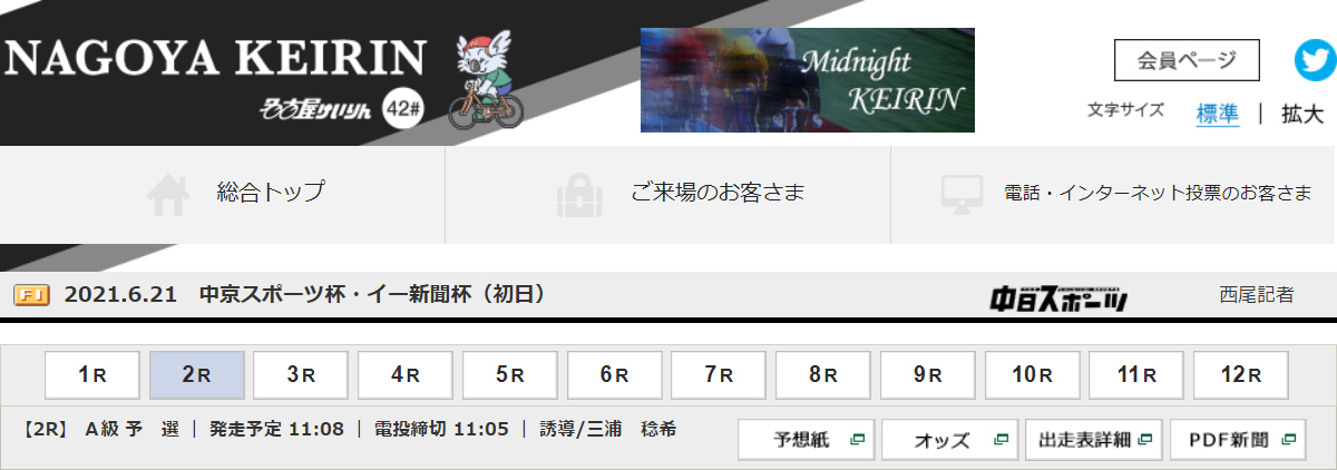 F1 中京スポーツ杯・イー新聞杯